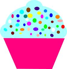 January Cupcake Cliparts
