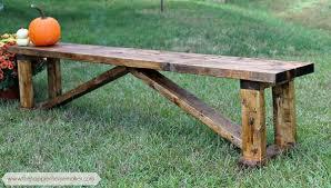 rustic 15 diy bench the happier homemaker