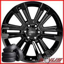 100 Chevy Truck Wheels And Tires NEW 22 GMC SIERRA DENALI CHEVY SILVERADO TAHOE BLACK WHEELS TIRES
