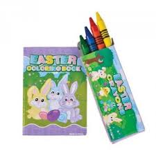 Mini Easter Coloring Book And Crayons 12 Sets From The Goodybag