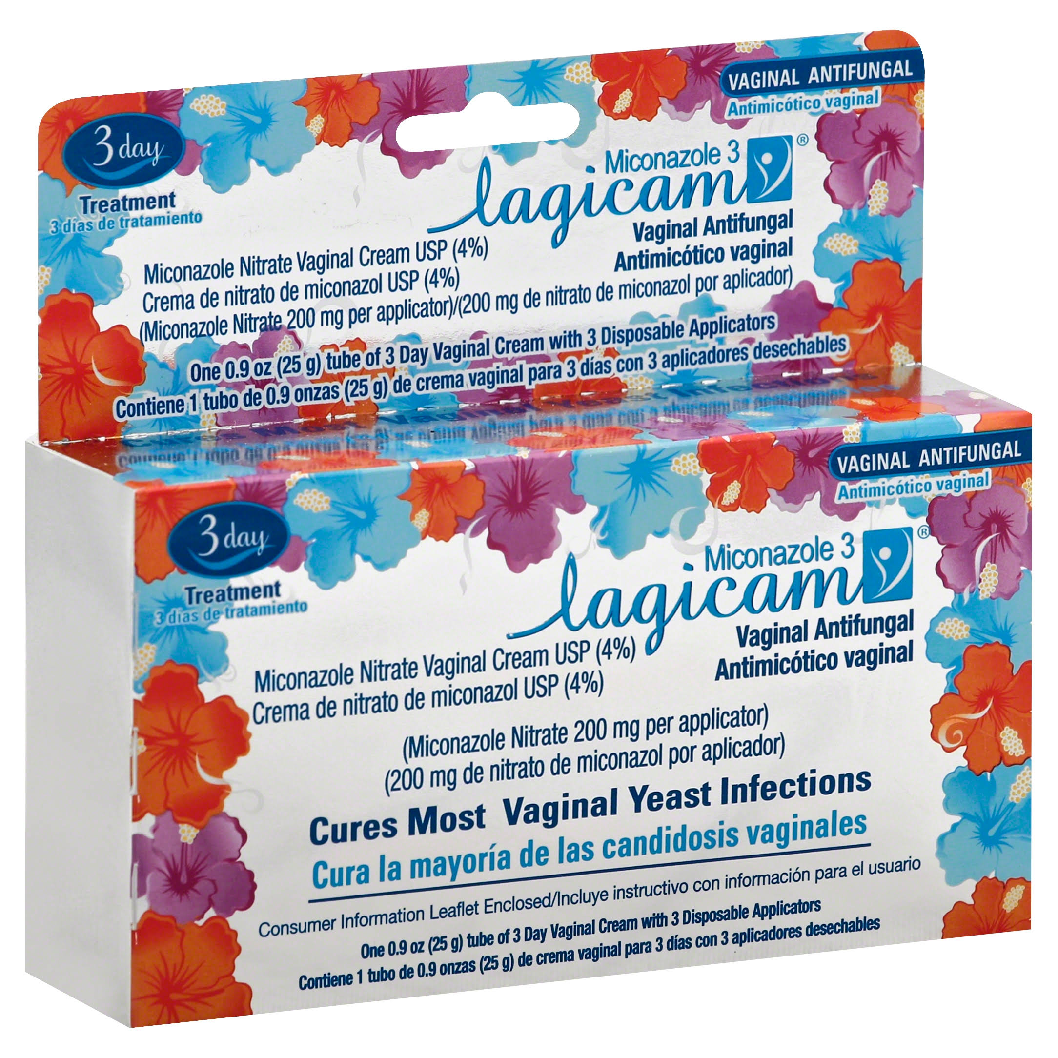 Lagicam Vaginal Yeast Infection Antifungal 3 Day Treatment Cream - 0.9oz