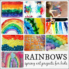 Rainbow Themed Spring Art Projects For Kids