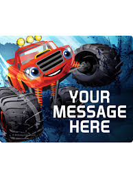 100 Monster Truck Decorations Red Personalized Rectangular Stickers Low