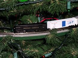 N Scale Christmas Tree Train