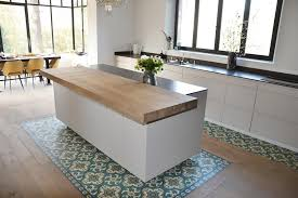 ilot central cuisine design ilot central de cuisine plan bar en bois massif cuisishop