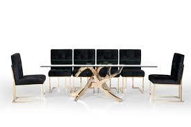 100 Living Room Table Modern Modrest Legend Glass Gold Dining