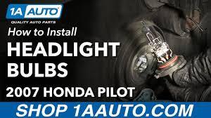 how to change replace headlight bulbs 2007 honda pilot