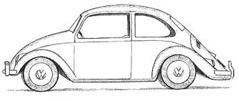 A finished drawing Volkswagen Beetle Punch Buggy Cars