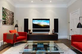 furniture captivating living room decor with cool tv