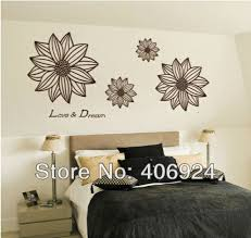 Floral Wall Art Removable Drawing Room Stickers Bedroom Decor Flower Vinyl Decal