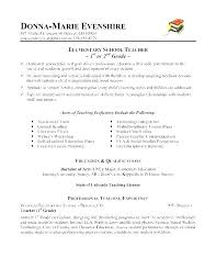 Resume Examples For Teachers Sample Educator Teaching Positions Elementary