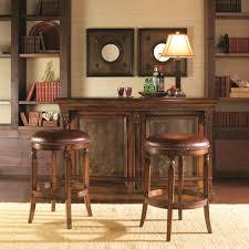 Artistica Winston Backless Leather Stool Baer s Furniture