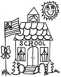 School Supplies Coloring Pages Building Bible For Sunday Medium Size