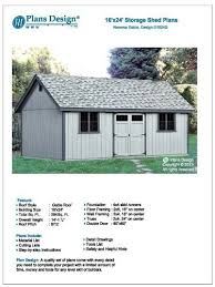 12 X 24 Gable Shed Plans by Utility Shed Building Plans Blueprints Do It Yourself Diy 16 U0027 X 24