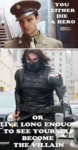 Them Bucky Feels Sniff Captain America The Winter Soldier And Its A Harvey Dent Quote From Dark Knight