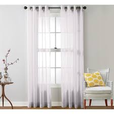 Crushed Voile Curtains Grommet by Hlc Me Sheer Voile Grommet Top Curtain Panel Pair Free Shipping
