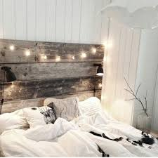 9 Reclaimed Wood Headboard With Built In Reading Lights