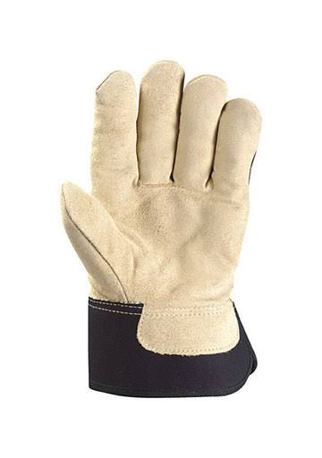 Wells Lamont 5130L Work Gloves - With Palomino Suede Cowhide, Safety Cuff, C100 Thinsulate, Large