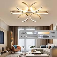 deckenleuchte wohnzimmer led dimmbar mit fernbedienung modern kreativ gebogenes design deckenleuchten schlafzimmer esstischlen büro dekorativ