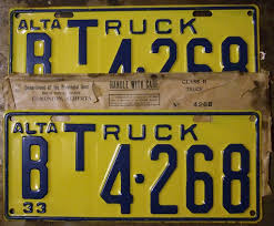 ALBERTA 1933 ---B-CLASS COMMERCIAL TRUCK PLATES WITH ORIGI… | Flickr Dmv Classic Vehicle Plate Beef Farmer Car Tag License Plates Cattlemen Truck Tag Deck Plates 1963 Idaho License Brandywine General Store 1974 Wyoming Alberta 1933 Bclass Commercial Truck Plates With Origi Flickr More The Auto Blonde Car Tahiti Fileillinois B Platejpg Wikimedia Commons Just Married Printed In Rear Window Of Yellow Pickup Truck With Luv Custom Vanity 2018 Jeep Wrangler Forums Jl Jt