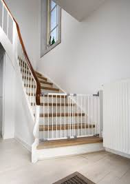 Gates For Stairs With Railings : Baby Gates For Stairs Ideas ... Diy Bottom Of Stairs Baby Gate W One Side Banister Get A Piece For Metal Spiral Staircase 11 Best Staircase Ideas Superior Sliding Baby Gate Stairs Closed Home Design Beauty Gates Should Know For Amazoncom Ezfit 36 Walk Thru Adapter Kit Safety Gates Are Designed To Keep The Child Safe Click Tweet Metal With Banister With Banisters Retractable Classy And House The Stair Barrier Tobannister Basic Of Small How Install Tension On Youtube