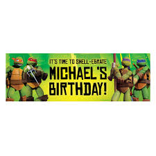 100 Ninja Turtle Monster Truck Teenage Mutant S ShellEbrate Birthday Banner Tvs Toy Box