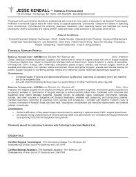 Certified Surgical Technologist Resume Tech Objective Samples Technician Position Objectives