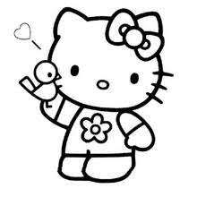 Hello Kitty Portrait Coloring Page