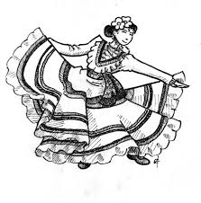 Flamenco Dancing Coloring Page