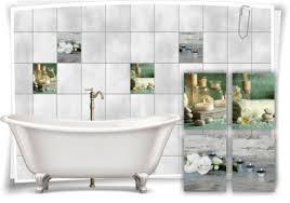 wall decals stickers fliesen aufkleber spa wellness kerze