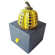 Yayoi Kusama Pumpkin Sculpture by Yayoi Kusama Paperweight Pumpkin Sculpture With Box Signed At 1stdibs