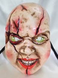 Halloween Mask William Shatners Face by Chucky Costume Creative Costumes Official Child S Play Bride Of