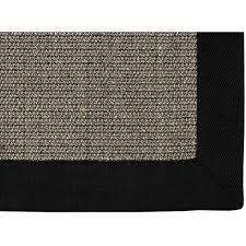 sisal teppich amazonas grau mit bordüre 70 x 130 cm