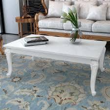 details zu couchtisch hochglanz beistelltisch weiß wohnzimmer sofatisch kaffeetisch barock