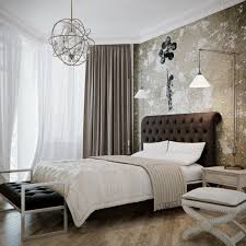 Modern Bedroom Ideas White Black Line Pattern Quilt Table Lamp Wall Mounted Dark Gray Square
