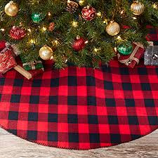 Buffalo Check Plaid Christmas Tree Skirt