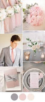 Wedding Stuff Elegant Pink And Grey Spring Color Ideas