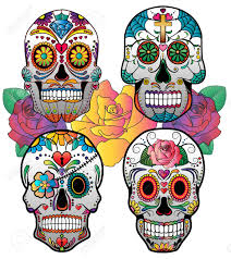 Easy Sugar Skull Day Of by Set Of 4 Vector Sugar Skulls For Day Of The Dead Royalty Free
