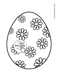 Easter Egg Coloring Pages For Kids Prinables
