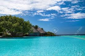 100 Maldives Infinity Pool Large Infinity Swimming Pool On Resort Luxury Holiday