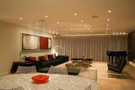 appealing living room pot light images recessed light with leather
