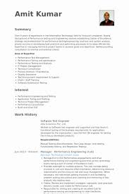 Software Engineer Resume Objective Best Of Automation Tester Sample New Detailed Template Luxury