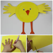 Paper Plate Hand Print Chick A Fab Simple Spring Or Easter Craft For Kids