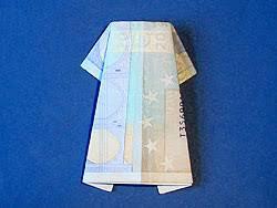 ein geld kleid basteln gestalten