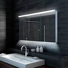 alu led beleuchtung badezimmerschrank badschrank spiegelschrank 120x70cm lmc12070