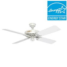 Plastic Outdoor Ceiling Fan Replacement Blades by Hunter Original 52 In Indoor Outdoor White Ceiling Fan 23845