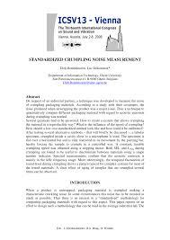 PDF Standardized Crumpling Noise Measurement