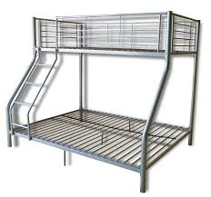Simple Silver Iron Finished Ikea Loft Bed With Ladder And High