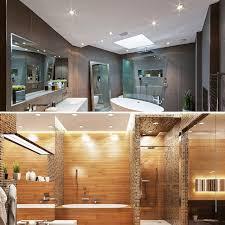 b k licht led einbauleuchte elias led board warmweiß led einbaustrahler ultra flach badezimmer ip44 decken spot gu10 3er set