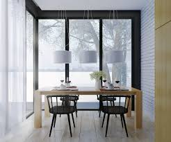 Dining Table White Area Rug Scandinavian Style Room Mini Ball Pendant Lamp Square Cover Chairs Concrete Floor Long Runners And Oval Argos With Carpet Six